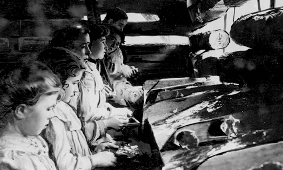 Child Workers at Walnut Knob Mica Mine, Ashe County