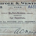 Norfolk & Western Ticket